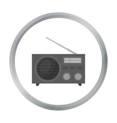 Radio advertising icon in cartoon style isolated vector