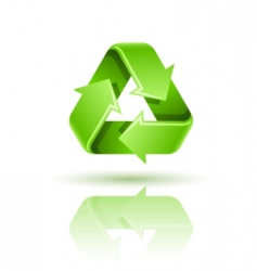 Recycling sign icon vector
