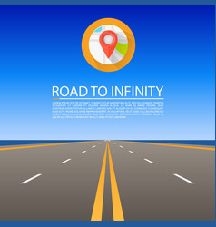 Road to infinity road highway vector
