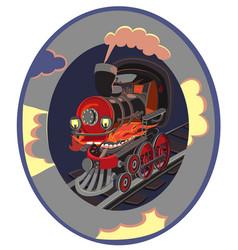 set of modern railway transport locomotives speed vector image vector image