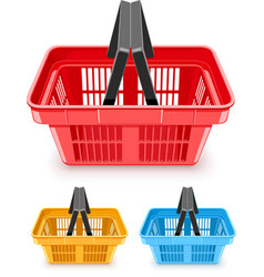 set of shopping baskets vector image vector image