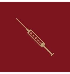 The syringe icon syringe symbol flat vector