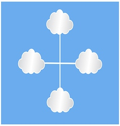 white clouds infografic vector image
