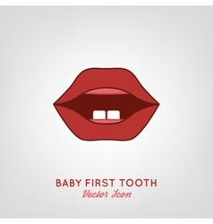 Baby first teeth vector
