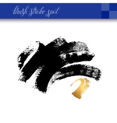 Black ink abstract hand drawing brush strokes spot vector