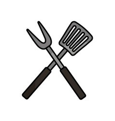 Roasting utensil cutlery icon vector