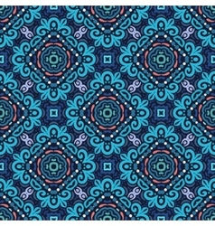 Flower Pattern Blue Curves vector image