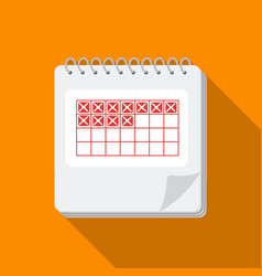 Calendar icon in flat style isolated on white vector
