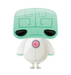 Little green brain alien vector