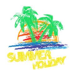 Summer holiday brush vector