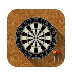 Dart board app icon vector