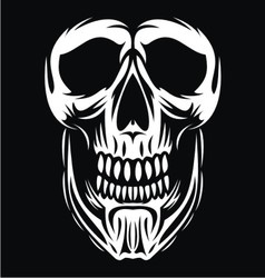 White skull face vector