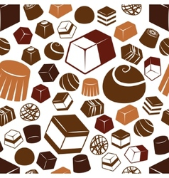 Chocolate seamless pattern vector