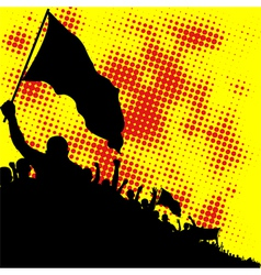 crowd silhouette vector image