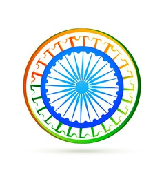 Indian flag design concept with blue wheel vector