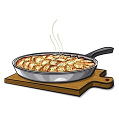 Potato gratin vector