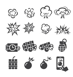 Blast icon set vector