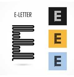 Creative e - letter icon abstract logo design vector