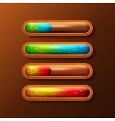 Set of progress bars with liquid filling vector