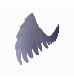 Eagle wing icon cartoon style vector