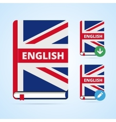 English book with download and edit vector