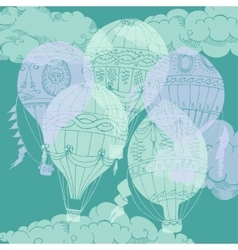 Air balloons backgr-12 vector