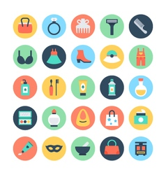 Fashion and beauty colored icons 2 vector