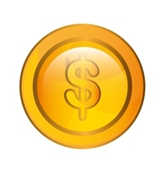 Currency money coins isolated flat design vector