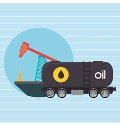 Oil truck isolated icon design vector