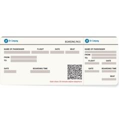 A boarding pass vector
