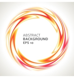Abstract red orange and yellow swirl circle bright vector