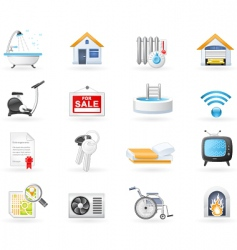 amenities icons vector image vector image