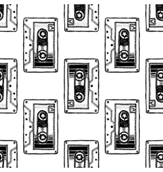 Audio cassette art for t-shirt design vector