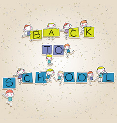 Back to school concept hand drawing cartoon vector
