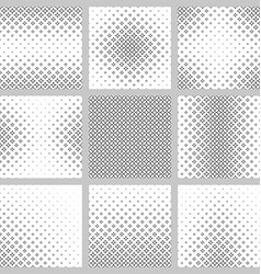 Black and white star pattern design set vector image