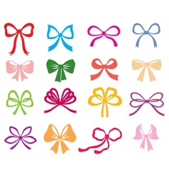 bow color vector image