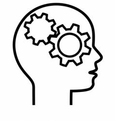 brain cogs vector image vector image