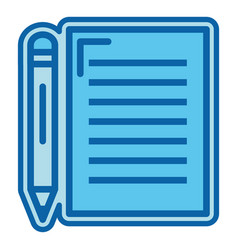 Document with pencil isolated icon vector