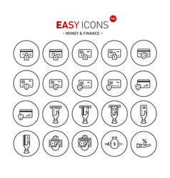 Easy icons 12b money vector