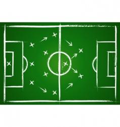 football teamwork strategy vector image