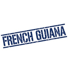 French Guiana blue square stamp vector image vector image