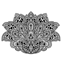Indian ethnic ornament Hand drawn henna tattoo vector image