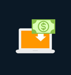 internet banking icon flat style vector image vector image