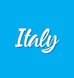 italy text design calligraphy typography vector image vector image