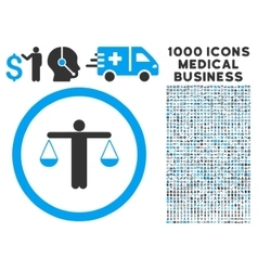 Lawyer Rounded Icon With Medical Bonus vector image vector image