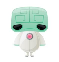 Little Green Brain Alien vector image