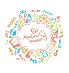 Medical icons set on a white background vector image vector image