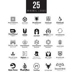 minimal logo design templates collection vector image