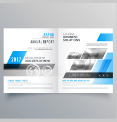 modern company brochure bifold template layout vector image vector image