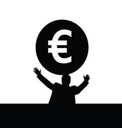 Money euro with man vector